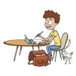 Cahier de travail à la maison