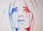 Des larmes sur la joue de Marianne